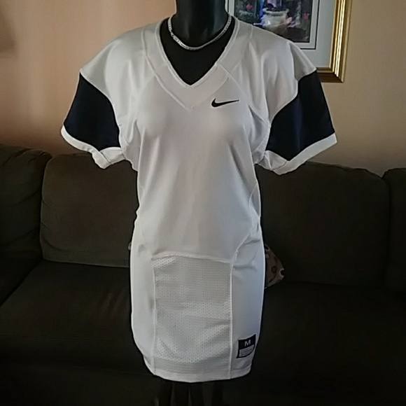 low cost 77693 342b2 Mens Nike Pro Combat Speed Football Jersey White NWT